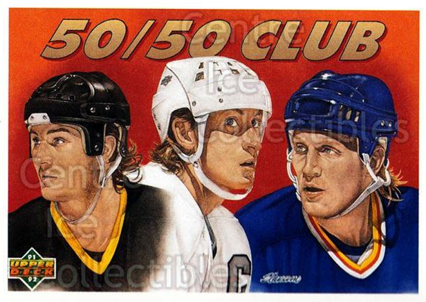 1991-92 Upper Deck French #45 Wayne Gretzky, Brett Hull, Mario Lemieux<br/>11 In Stock - $2.00 each - <a href=https://centericecollectibles.foxycart.com/cart?name=1991-92%20Upper%20Deck%20French%20%2345%20Wayne%20Gretzky,%20...&price=$2.00&code=261664 class=foxycart> Buy it now! </a>