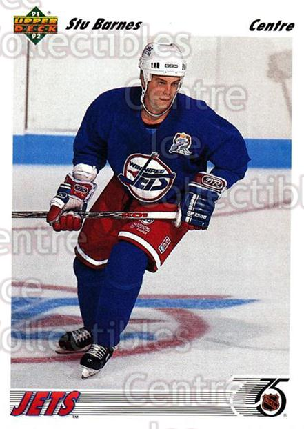 1991-92 Upper Deck French #53 Stu Barnes<br/>14 In Stock - $1.00 each - <a href=https://centericecollectibles.foxycart.com/cart?name=1991-92%20Upper%20Deck%20French%20%2353%20Stu%20Barnes...&quantity_max=14&price=$1.00&code=261672 class=foxycart> Buy it now! </a>