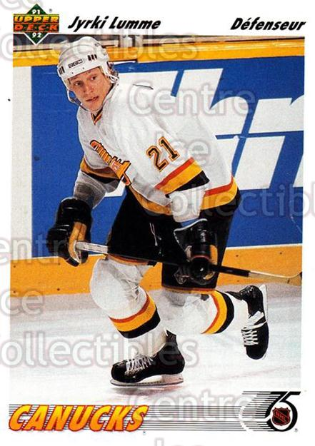 1991-92 Upper Deck French #114 Jyrki Lumme<br/>13 In Stock - $1.00 each - <a href=https://centericecollectibles.foxycart.com/cart?name=1991-92%20Upper%20Deck%20French%20%23114%20Jyrki%20Lumme...&quantity_max=13&price=$1.00&code=261733 class=foxycart> Buy it now! </a>