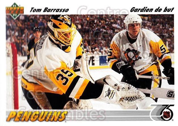 1991-92 Upper Deck French #116 Tom Barrasso<br/>12 In Stock - $1.00 each - <a href=https://centericecollectibles.foxycart.com/cart?name=1991-92%20Upper%20Deck%20French%20%23116%20Tom%20Barrasso...&quantity_max=12&price=$1.00&code=261735 class=foxycart> Buy it now! </a>