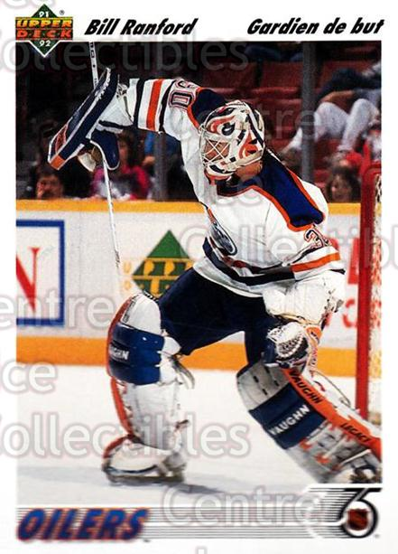 1991-92 Upper Deck French #117 Bill Ranford<br/>13 In Stock - $1.00 each - <a href=https://centericecollectibles.foxycart.com/cart?name=1991-92%20Upper%20Deck%20French%20%23117%20Bill%20Ranford...&quantity_max=13&price=$1.00&code=261736 class=foxycart> Buy it now! </a>