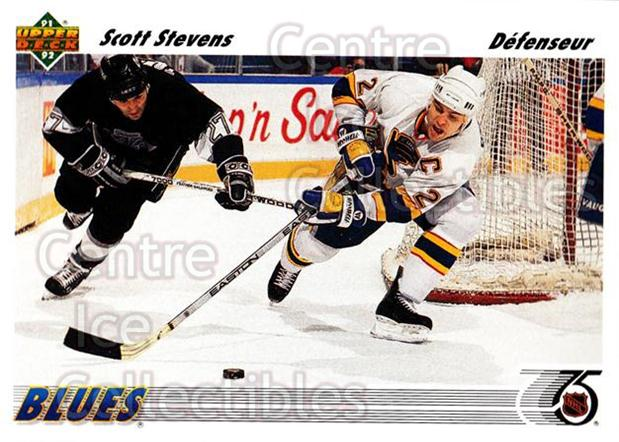 1991-92 Upper Deck French #132 Scott Stevens<br/>14 In Stock - $1.00 each - <a href=https://centericecollectibles.foxycart.com/cart?name=1991-92%20Upper%20Deck%20French%20%23132%20Scott%20Stevens...&quantity_max=14&price=$1.00&code=261751 class=foxycart> Buy it now! </a>