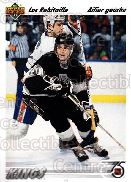 1991-92 Upper Deck French #145 Luc Robitaille<br/>14 In Stock - $1.00 each - <a href=https://centericecollectibles.foxycart.com/cart?name=1991-92%20Upper%20Deck%20French%20%23145%20Luc%20Robitaille...&quantity_max=14&price=$1.00&code=261764 class=foxycart> Buy it now! </a>