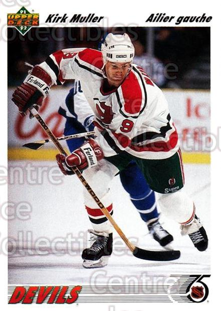 1991-92 Upper Deck French #149 Kirk Muller<br/>14 In Stock - $1.00 each - <a href=https://centericecollectibles.foxycart.com/cart?name=1991-92%20Upper%20Deck%20French%20%23149%20Kirk%20Muller...&quantity_max=14&price=$1.00&code=261768 class=foxycart> Buy it now! </a>