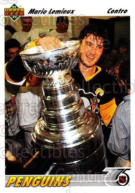 1991-92 Upper Deck French #156 Mario Lemieux<br/>9 In Stock - $2.00 each - <a href=https://centericecollectibles.foxycart.com/cart?name=1991-92%20Upper%20Deck%20French%20%23156%20Mario%20Lemieux...&price=$2.00&code=261775 class=foxycart> Buy it now! </a>