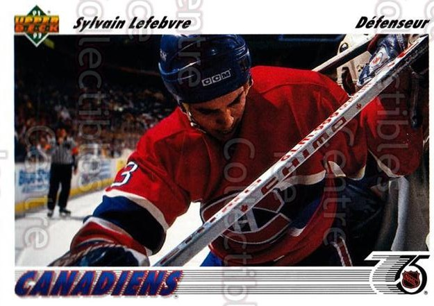 1991-92 Upper Deck French #171 Sylvain Lefebvre<br/>14 In Stock - $1.00 each - <a href=https://centericecollectibles.foxycart.com/cart?name=1991-92%20Upper%20Deck%20French%20%23171%20Sylvain%20Lefebvr...&quantity_max=14&price=$1.00&code=261790 class=foxycart> Buy it now! </a>