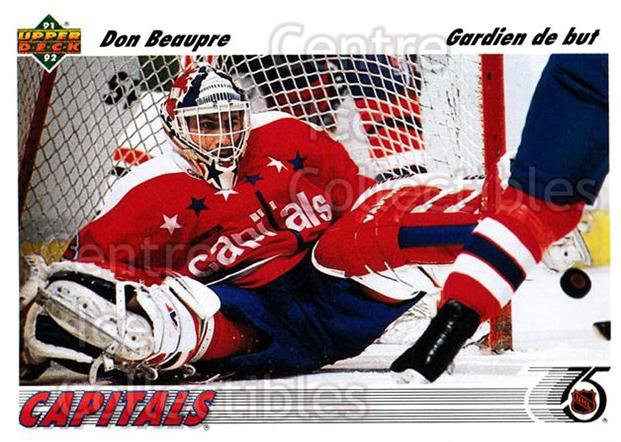 1991-92 Upper Deck French #197 Don Beaupre<br/>14 In Stock - $1.00 each - <a href=https://centericecollectibles.foxycart.com/cart?name=1991-92%20Upper%20Deck%20French%20%23197%20Don%20Beaupre...&quantity_max=14&price=$1.00&code=261816 class=foxycart> Buy it now! </a>