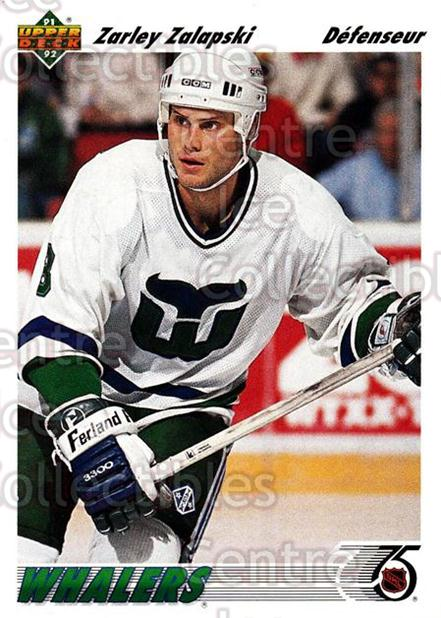 1991-92 Upper Deck French #231 Zarley Zalapski<br/>11 In Stock - $1.00 each - <a href=https://centericecollectibles.foxycart.com/cart?name=1991-92%20Upper%20Deck%20French%20%23231%20Zarley%20Zalapski...&quantity_max=11&price=$1.00&code=261850 class=foxycart> Buy it now! </a>