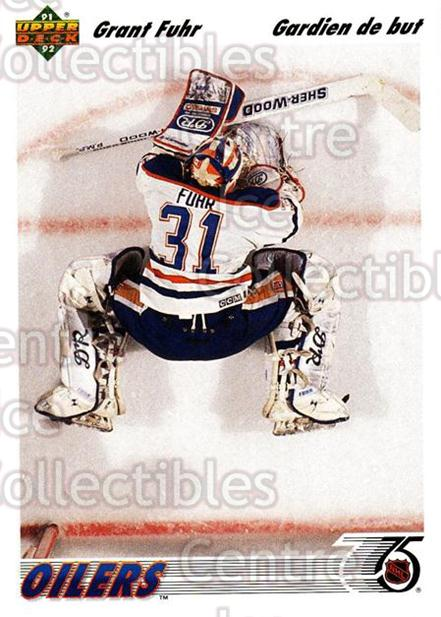 1991-92 Upper Deck French #264 Grant Fuhr<br/>14 In Stock - $1.00 each - <a href=https://centericecollectibles.foxycart.com/cart?name=1991-92%20Upper%20Deck%20French%20%23264%20Grant%20Fuhr...&quantity_max=14&price=$1.00&code=261883 class=foxycart> Buy it now! </a>