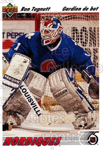 1991-92 Upper Deck French #277 Ron Tugnutt<br/>14 In Stock - $1.00 each - <a href=https://centericecollectibles.foxycart.com/cart?name=1991-92%20Upper%20Deck%20French%20%23277%20Ron%20Tugnutt...&quantity_max=14&price=$1.00&code=261896 class=foxycart> Buy it now! </a>