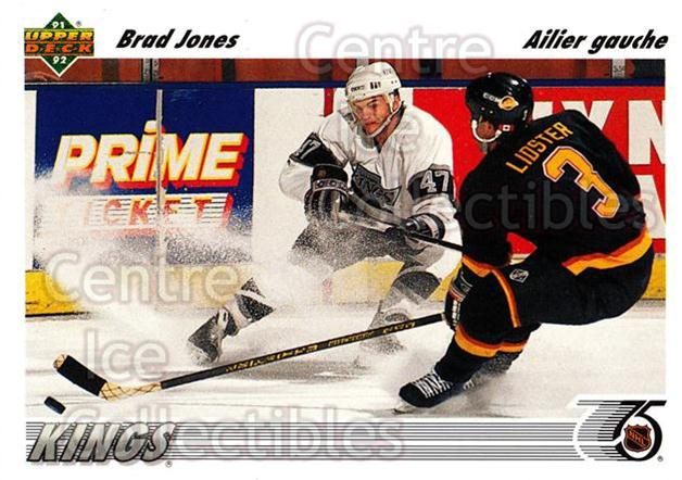 1991-92 Upper Deck French #304 Brad Jones<br/>13 In Stock - $1.00 each - <a href=https://centericecollectibles.foxycart.com/cart?name=1991-92%20Upper%20Deck%20French%20%23304%20Brad%20Jones...&quantity_max=13&price=$1.00&code=261923 class=foxycart> Buy it now! </a>