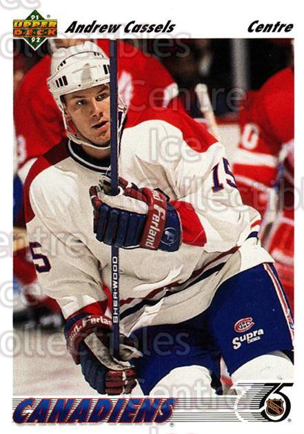 1991-92 Upper Deck French #379 Andrew Cassels<br/>14 In Stock - $1.00 each - <a href=https://centericecollectibles.foxycart.com/cart?name=1991-92%20Upper%20Deck%20French%20%23379%20Andrew%20Cassels...&quantity_max=14&price=$1.00&code=261998 class=foxycart> Buy it now! </a>