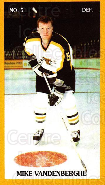 1990-91 Brandon Wheat Kings #3 Mike Vandenberghe<br/>4 In Stock - $3.00 each - <a href=https://centericecollectibles.foxycart.com/cart?name=1990-91%20Brandon%20Wheat%20Kings%20%233%20Mike%20Vandenberg...&quantity_max=4&price=$3.00&code=261 class=foxycart> Buy it now! </a>