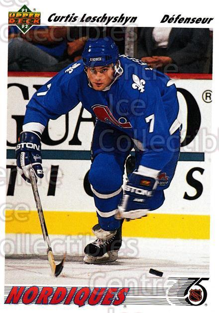 1991-92 Upper Deck French #413 Curtis Leschyshyn<br/>14 In Stock - $1.00 each - <a href=https://centericecollectibles.foxycart.com/cart?name=1991-92%20Upper%20Deck%20French%20%23413%20Curtis%20Leschysh...&quantity_max=14&price=$1.00&code=262032 class=foxycart> Buy it now! </a>