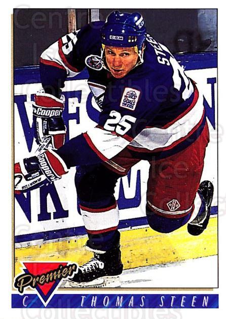 1993-94 OPC Premier #11 Thomas Steen<br/>3 In Stock - $1.00 each - <a href=https://centericecollectibles.foxycart.com/cart?name=1993-94%20OPC%20Premier%20%2311%20Thomas%20Steen...&quantity_max=3&price=$1.00&code=262358 class=foxycart> Buy it now! </a>