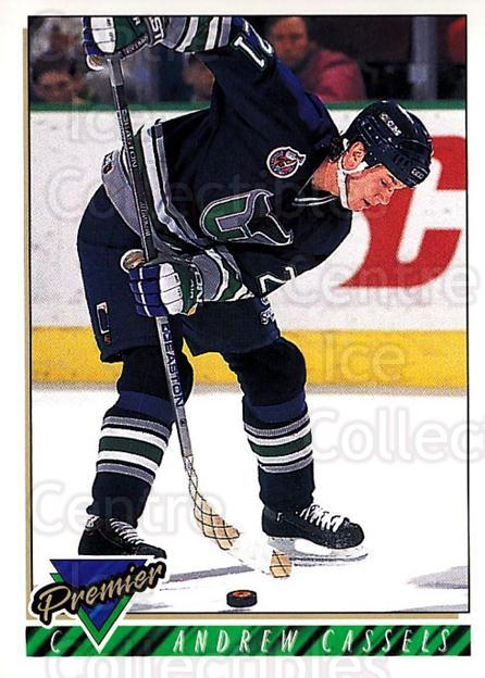 1993-94 OPC Premier #65 Andrew Cassels<br/>3 In Stock - $1.00 each - <a href=https://centericecollectibles.foxycart.com/cart?name=1993-94%20OPC%20Premier%20%2365%20Andrew%20Cassels...&quantity_max=3&price=$1.00&code=262412 class=foxycart> Buy it now! </a>