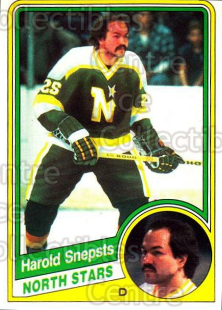 1984-85 O-Pee-Chee #108 Harold Snepsts<br/>8 In Stock - $1.00 each - <a href=https://centericecollectibles.foxycart.com/cart?name=1984-85%20O-Pee-Chee%20%23108%20Harold%20Snepsts...&quantity_max=8&price=$1.00&code=26260 class=foxycart> Buy it now! </a>