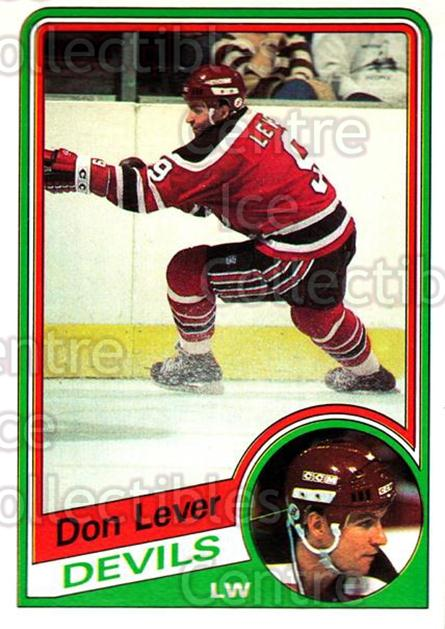 1984-85 O-Pee-Chee #112 Don Lever<br/>10 In Stock - $1.00 each - <a href=https://centericecollectibles.foxycart.com/cart?name=1984-85%20O-Pee-Chee%20%23112%20Don%20Lever...&quantity_max=10&price=$1.00&code=26264 class=foxycart> Buy it now! </a>
