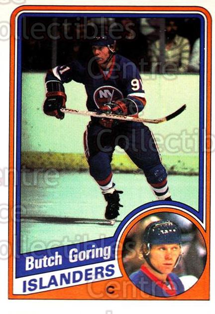 1984-85 O-Pee-Chee #127 Butch Goring<br/>8 In Stock - $1.00 each - <a href=https://centericecollectibles.foxycart.com/cart?name=1984-85%20O-Pee-Chee%20%23127%20Butch%20Goring...&quantity_max=8&price=$1.00&code=26279 class=foxycart> Buy it now! </a>
