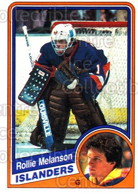 1984-85 O-Pee-Chee #130 Rollie Melanson<br/>1 In Stock - $1.00 each - <a href=https://centericecollectibles.foxycart.com/cart?name=1984-85%20O-Pee-Chee%20%23130%20Rollie%20Melanson...&quantity_max=1&price=$1.00&code=26282 class=foxycart> Buy it now! </a>