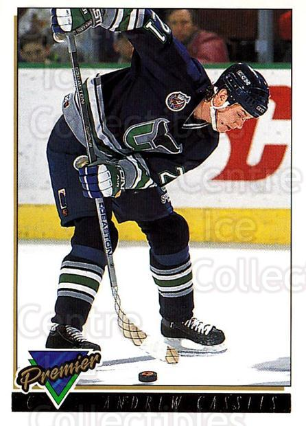 1993-94 OPC Premier Gold #65 Andrew Cassels<br/>2 In Stock - $2.00 each - <a href=https://centericecollectibles.foxycart.com/cart?name=1993-94%20OPC%20Premier%20Gold%20%2365%20Andrew%20Cassels...&quantity_max=2&price=$2.00&code=262940 class=foxycart> Buy it now! </a>