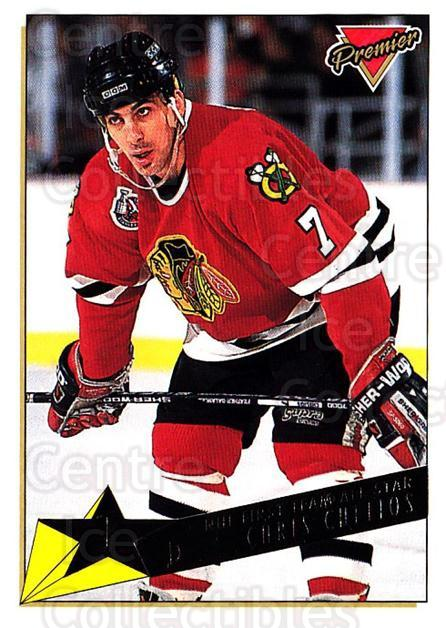 1993-94 OPC Premier Gold #94 Chris Chelios<br/>2 In Stock - $2.00 each - <a href=https://centericecollectibles.foxycart.com/cart?name=1993-94%20OPC%20Premier%20Gold%20%2394%20Chris%20Chelios...&quantity_max=2&price=$2.00&code=262969 class=foxycart> Buy it now! </a>