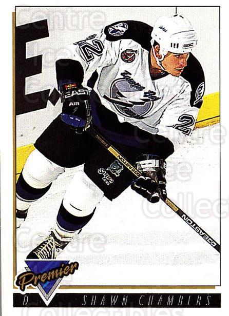 1993-94 OPC Premier Gold #101 Shawn Chambers<br/>2 In Stock - $2.00 each - <a href=https://centericecollectibles.foxycart.com/cart?name=1993-94%20OPC%20Premier%20Gold%20%23101%20Shawn%20Chambers...&quantity_max=2&price=$2.00&code=262976 class=foxycart> Buy it now! </a>