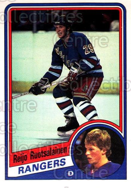 1984-85 O-Pee-Chee #153 Reijo Ruotsalainen<br/>6 In Stock - $1.00 each - <a href=https://centericecollectibles.foxycart.com/cart?name=1984-85%20O-Pee-Chee%20%23153%20Reijo%20Ruotsalai...&quantity_max=6&price=$1.00&code=26306 class=foxycart> Buy it now! </a>