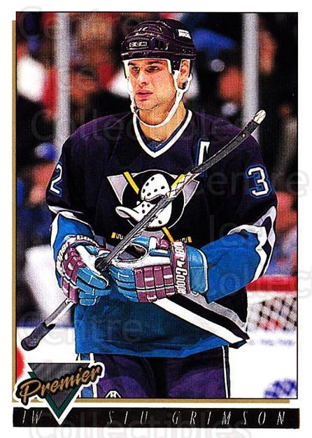 1993-94 OPC Premier Gold #357 Stu Grimson<br/>2 In Stock - $2.00 each - <a href=https://centericecollectibles.foxycart.com/cart?name=1993-94%20OPC%20Premier%20Gold%20%23357%20Stu%20Grimson...&quantity_max=2&price=$2.00&code=263232 class=foxycart> Buy it now! </a>