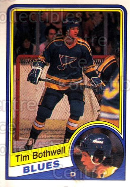 1984-85 O-Pee-Chee #182 Tim Bothwell<br/>8 In Stock - $1.00 each - <a href=https://centericecollectibles.foxycart.com/cart?name=1984-85%20O-Pee-Chee%20%23182%20Tim%20Bothwell...&quantity_max=8&price=$1.00&code=26331 class=foxycart> Buy it now! </a>