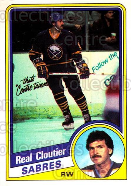 1984-85 O-Pee-Chee #19 Real Cloutier<br/>9 In Stock - $1.00 each - <a href=https://centericecollectibles.foxycart.com/cart?name=1984-85%20O-Pee-Chee%20%2319%20Real%20Cloutier...&quantity_max=9&price=$1.00&code=26338 class=foxycart> Buy it now! </a>