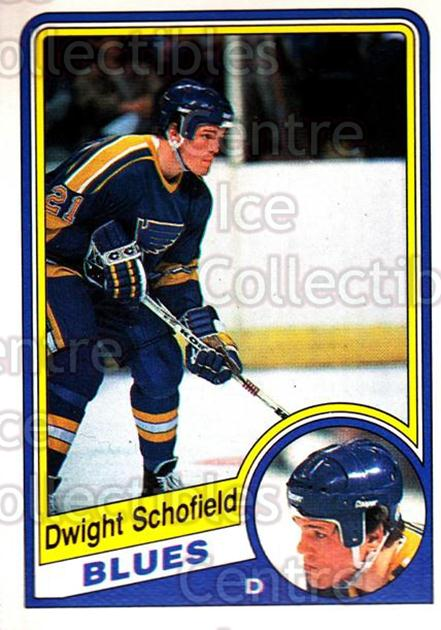 1984-85 O-Pee-Chee #191 Dwight Schofield<br/>8 In Stock - $1.00 each - <a href=https://centericecollectibles.foxycart.com/cart?name=1984-85%20O-Pee-Chee%20%23191%20Dwight%20Schofiel...&quantity_max=8&price=$1.00&code=26340 class=foxycart> Buy it now! </a>