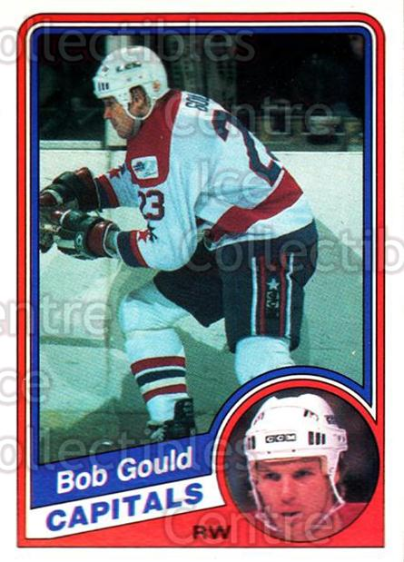 1984-85 O-Pee-Chee #196 Bob Gould<br/>9 In Stock - $1.00 each - <a href=https://centericecollectibles.foxycart.com/cart?name=1984-85%20O-Pee-Chee%20%23196%20Bob%20Gould...&quantity_max=9&price=$1.00&code=26345 class=foxycart> Buy it now! </a>