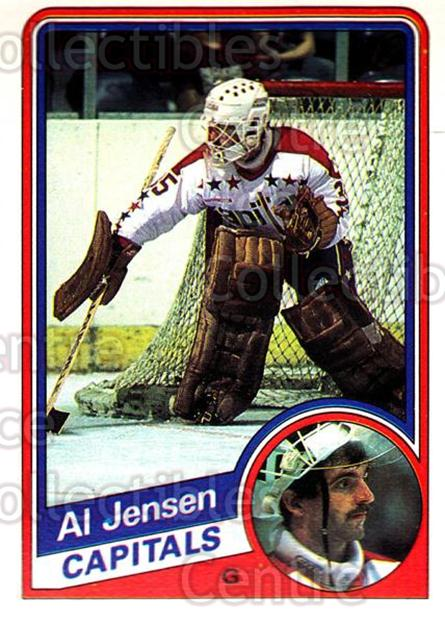 1984-85 O-Pee-Chee #201 Al Jensen<br/>7 In Stock - $1.00 each - <a href=https://centericecollectibles.foxycart.com/cart?name=1984-85%20O-Pee-Chee%20%23201%20Al%20Jensen...&quantity_max=7&price=$1.00&code=26352 class=foxycart> Buy it now! </a>