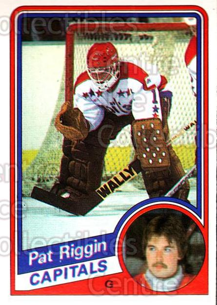1984-85 O-Pee-Chee #205 Pat Riggin<br/>7 In Stock - $1.00 each - <a href=https://centericecollectibles.foxycart.com/cart?name=1984-85%20O-Pee-Chee%20%23205%20Pat%20Riggin...&quantity_max=7&price=$1.00&code=26355 class=foxycart> Buy it now! </a>