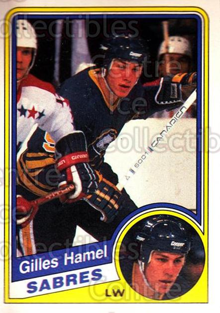 1984-85 O-Pee-Chee #22 Gilles Hamel<br/>7 In Stock - $1.00 each - <a href=https://centericecollectibles.foxycart.com/cart?name=1984-85%20O-Pee-Chee%20%2322%20Gilles%20Hamel...&quantity_max=7&price=$1.00&code=26370 class=foxycart> Buy it now! </a>