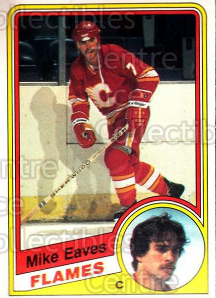1984-85 O-Pee-Chee #221 Mike Eaves<br/>9 In Stock - $1.00 each - <a href=https://centericecollectibles.foxycart.com/cart?name=1984-85%20O-Pee-Chee%20%23221%20Mike%20Eaves...&quantity_max=9&price=$1.00&code=26372 class=foxycart> Buy it now! </a>
