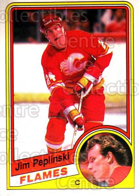 1984-85 O-Pee-Chee #233 Jim Peplinski<br/>9 In Stock - $1.00 each - <a href=https://centericecollectibles.foxycart.com/cart?name=1984-85%20O-Pee-Chee%20%23233%20Jim%20Peplinski...&quantity_max=9&price=$1.00&code=26384 class=foxycart> Buy it now! </a>