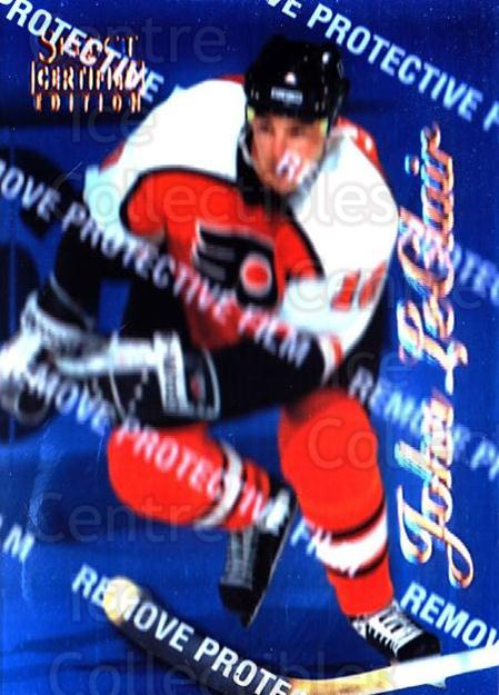 1996-97 Select Certified Blue #33 John LeClair<br/>1 In Stock - $5.00 each - <a href=https://centericecollectibles.foxycart.com/cart?name=1996-97%20Select%20Certified%20Blue%20%2333%20John%20LeClair...&quantity_max=1&price=$5.00&code=264698 class=foxycart> Buy it now! </a>