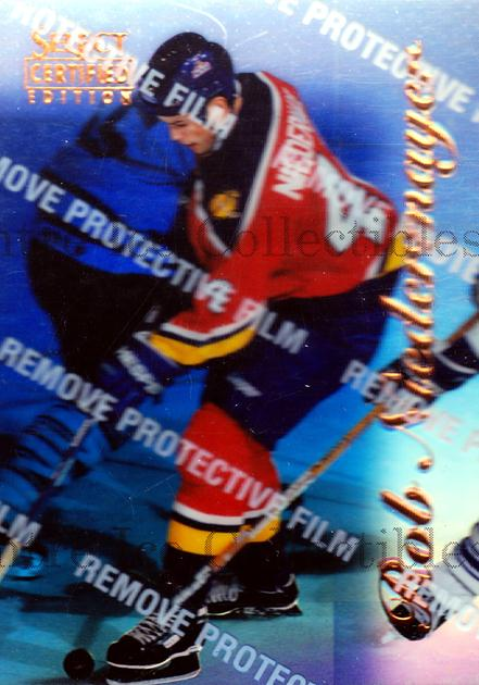 1996-97 Select Certified Mirror Blue #7 Rob Niedermayer<br/>2 In Stock - $5.00 each - <a href=https://centericecollectibles.foxycart.com/cart?name=1996-97%20Select%20Certified%20Mirror%20Blue%20%237%20Rob%20Niedermayer...&quantity_max=2&price=$5.00&code=264912 class=foxycart> Buy it now! </a>