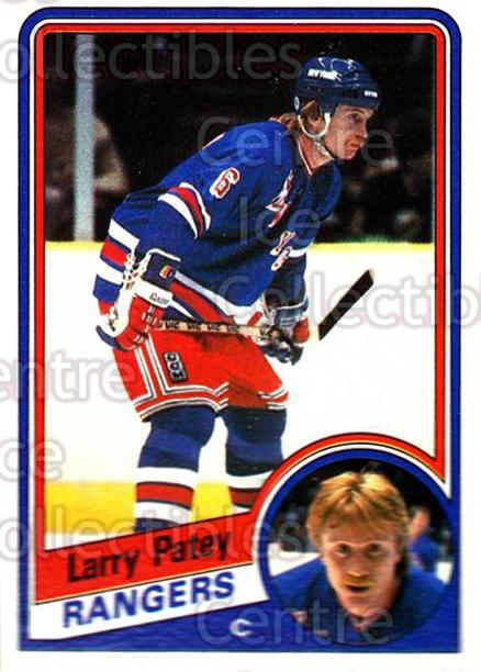 1984-85 Topps #111 Larry Patey<br/>8 In Stock - $1.00 each - <a href=https://centericecollectibles.foxycart.com/cart?name=1984-85%20Topps%20%23111%20Larry%20Patey...&quantity_max=8&price=$1.00&code=26505 class=foxycart> Buy it now! </a>