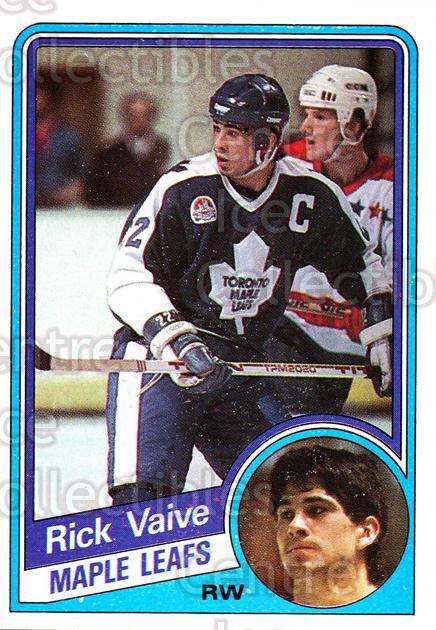 1984-85 Topps #138 Rick Vaive<br/>4 In Stock - $1.00 each - <a href=https://centericecollectibles.foxycart.com/cart?name=1984-85%20Topps%20%23138%20Rick%20Vaive...&quantity_max=4&price=$1.00&code=26533 class=foxycart> Buy it now! </a>