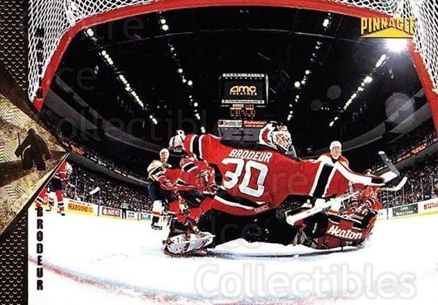 1996-97 Pinnacle #92 Martin Brodeur<br/>2 In Stock - $2.00 each - <a href=https://centericecollectibles.foxycart.com/cart?name=1996-97%20Pinnacle%20%2392%20Martin%20Brodeur...&price=$2.00&code=265357 class=foxycart> Buy it now! </a>