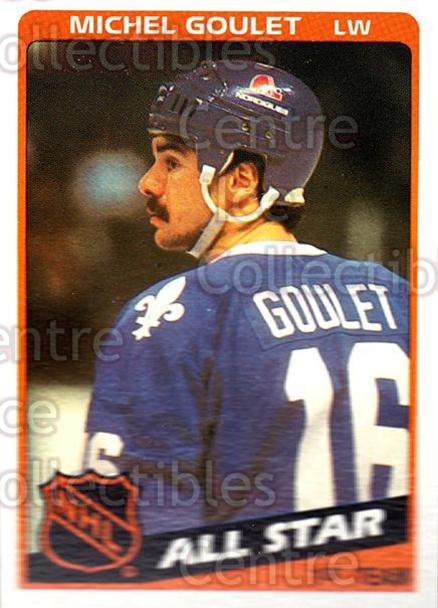1984-85 Topps #153 Michel Goulet<br/>7 In Stock - $1.00 each - <a href=https://centericecollectibles.foxycart.com/cart?name=1984-85%20Topps%20%23153%20Michel%20Goulet...&quantity_max=7&price=$1.00&code=26548 class=foxycart> Buy it now! </a>