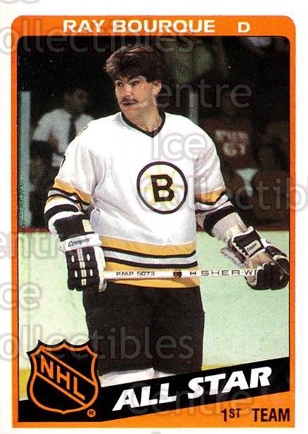 1984-85 Topps #157 Ray Bourque<br/>6 In Stock - $2.00 each - <a href=https://centericecollectibles.foxycart.com/cart?name=1984-85%20Topps%20%23157%20Ray%20Bourque...&quantity_max=6&price=$2.00&code=26551 class=foxycart> Buy it now! </a>