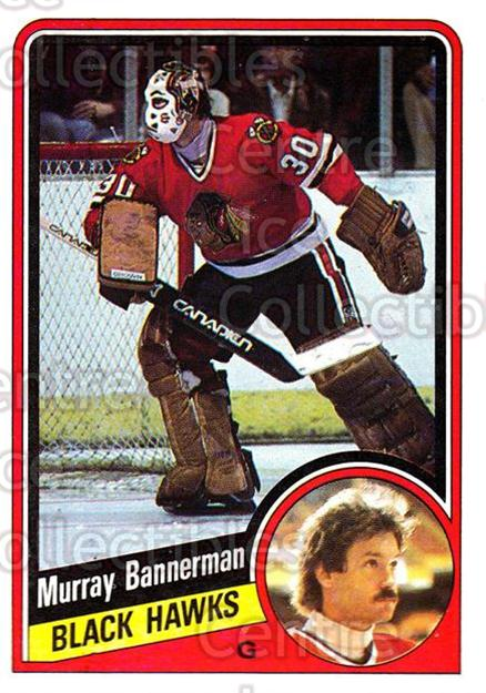 1984-85 Topps #27 Murray Bannerman<br/>8 In Stock - $1.00 each - <a href=https://centericecollectibles.foxycart.com/cart?name=1984-85%20Topps%20%2327%20Murray%20Bannerma...&quantity_max=8&price=$1.00&code=26572 class=foxycart> Buy it now! </a>