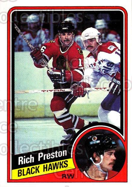 1984-85 Topps #34 Rich Preston<br/>8 In Stock - $1.00 each - <a href=https://centericecollectibles.foxycart.com/cart?name=1984-85%20Topps%20%2334%20Rich%20Preston...&quantity_max=8&price=$1.00&code=26580 class=foxycart> Buy it now! </a>