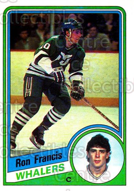 1984-85 Topps #54 Ron Francis<br/>8 In Stock - $2.00 each - <a href=https://centericecollectibles.foxycart.com/cart?name=1984-85%20Topps%20%2354%20Ron%20Francis...&quantity_max=8&price=$2.00&code=26599 class=foxycart> Buy it now! </a>