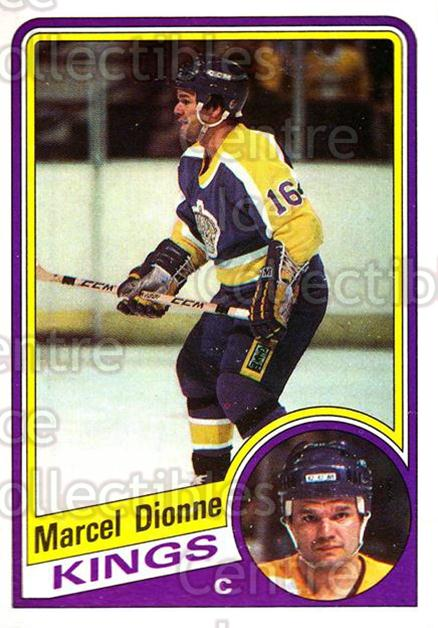 1984-85 Topps #64 Marcel Dionne<br/>8 In Stock - $2.00 each - <a href=https://centericecollectibles.foxycart.com/cart?name=1984-85%20Topps%20%2364%20Marcel%20Dionne...&quantity_max=8&price=$2.00&code=26610 class=foxycart> Buy it now! </a>