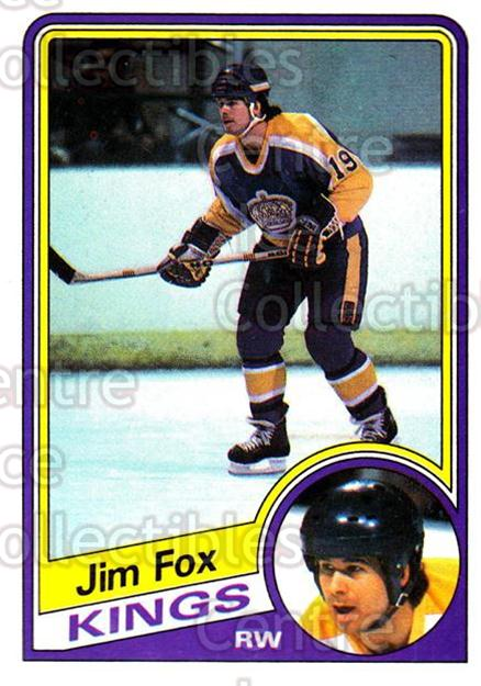 1984-85 Topps #66 Jim Fox<br/>7 In Stock - $1.00 each - <a href=https://centericecollectibles.foxycart.com/cart?name=1984-85%20Topps%20%2366%20Jim%20Fox...&price=$1.00&code=26612 class=foxycart> Buy it now! </a>